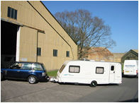 Large warehouse doors makes access to your caravan easy