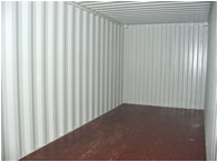 An Empty 20ft Self Storage Container